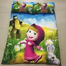 aliexpress com buy home textile 3d masha and bear children