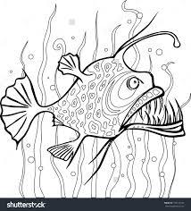 angler fish coloring page eson me