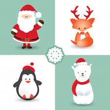 imagenes animadas de renos de navidad personajes de dibujos animados de navidad como santa claus zorro