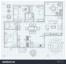 Celebrity House Floor Plans by Black White Floor Plan Sketch House Stock Vector 246621421