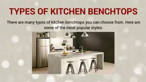 different types of kitchen benchtops youtube
