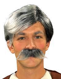 spirit halloween black wigs amazon com forum novelties gepetto wig and moustache kit grey