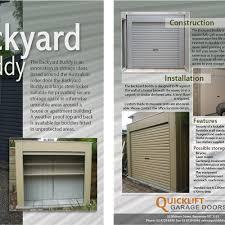 Backyard Buddy Help Quicklift Garage Doors With A New Brochure Design Brochure
