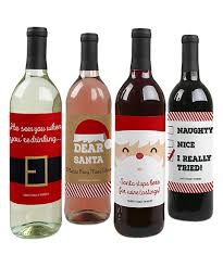 look what i found on zulily funny santa wine bottle label set