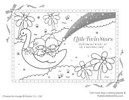 download little twin stars coloring pages ziho coloring