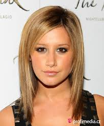 easy medium straight haircut ashley tisdale hair shoulder