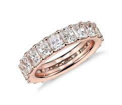 gold eternity rings 5 26 ct tw radiant cut cubic zirconia eternity ring in 14k