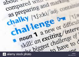 Challenge Dictionary Challenge Word Closeup In Dictionary Stock Photo Royalty Free