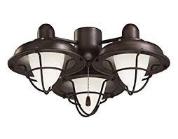 oil rubbed bronze ceiling fan with light emerson ceiling fan light fixtures lk40orb boardwalk cage ceiling