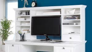 Schreibtisch Mit Computer Landwood In Weiß Mit Aufsatz 136x137 Cm Landhausstil