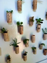 wine cork fridge magnets w live succulents by maurucat on deviantart
