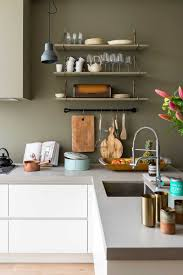 Green Country Kitchen And Grey Kitchen Green Country Kitchen Kitchen Wall Paint