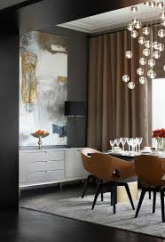 Floor To Ceiling Curtains Contemporary Dining Room With Tray Ceiling U0026 Large Scale Artwork