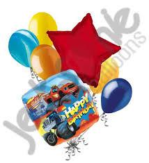 birthday balloon bouquet blaze the machines happy birthday balloon bouquet