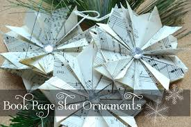 diy book page ornaments harbour home