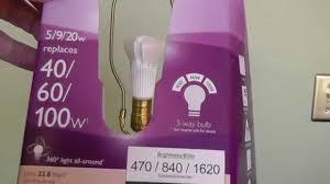 philips 3 way led light bulb youtube