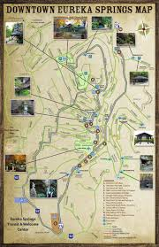 Fayetteville Ar Map Eureka Springs Arkansas Parks Springs U0026 Trails Map Brochure