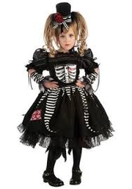 Spooky Halloween Costumes Girls Girls Scary Skeleton Costume Party Halloween