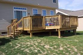 wrap around deck designs outdoor garden charming raised backyard deck design ideas great