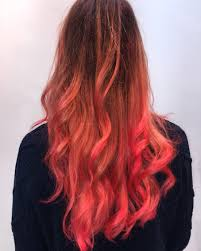 my new hair balayage ombre with coral pink goldwell elumen colour