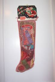 vintage mesh christmas stocking toys games filled unopened from