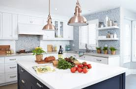copper pendant light kitchen kitchen blue white copper kitchen grey and white kitchen design