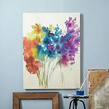 diy canvas painting ideas abstract flowers canvas painting cool and easy wall art ideas