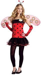 Tween Pirate Halloween Costumes Amazon Teen Ladybug U0027s Insect Halloween Costume Clothing
