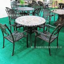 Marble Patio Table Aluminum Outdoor Patio Furniture Patio Chairs On Marble Table Five