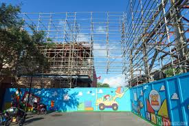 photos demolition of soundstage 4 at the new toy story land entrance