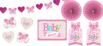 Wel e Baby Girl Baby Shower Decorations