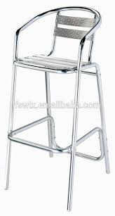 aluminium chaise tabouret de bar et table buy product on alibaba com