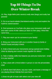 Things To Do With Your Family On The Top 10 Things To Do Winter That Flipping Band Director