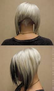 back of head bob wahoo undercut hair design woman pinterest undercut blondes