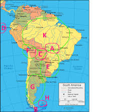 america and south america physical map quiz and south american physical geography proprofs quiz