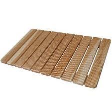 pedana legno pedana per doccia antiscivolo 78 x 52 cm con doghe assi in legno