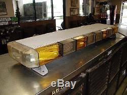 whelen ambulance light bar used whelen edge emergency white and amber roof led light bar 48