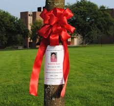 alumni ribbons remembering the six alumni who lost their lives on 9 11
