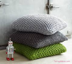 knitted pillow free knitting pattern yarnplaza for