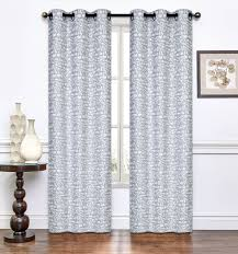 Burgundy Curtain Panels Pair Of Annette Light Gray Window Curtain Panels W Grommets 96