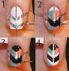 easy diy nail art designs with tape another heaven nails design