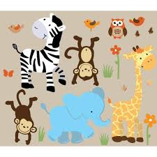 2017 latest animal wall art wall art ideas colorful jungle wall decals for nursery with zebra wall murals for inside animal wall art