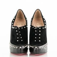 christian louboutin calfskin suede studded astraqueen 120 ankle
