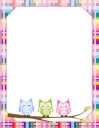 blank paper to write on free printable owl blank paper stationery ינשופים