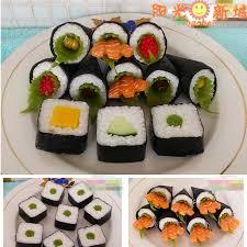 creative novelty artificial sushi model bundle 11 salmon shrimp