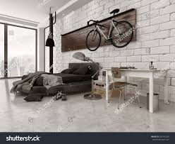 3d rendering modern loft style bedroom stock photo 220145233