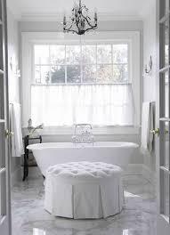 Bathroom Ottoman Storage White Tufted Ottoman Traditional Bathroom Freeman Design