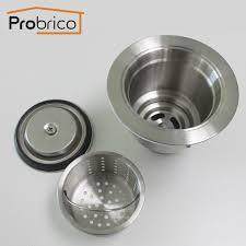kitchen sink drainer probrico fit 35 kitchen sink drainer stainless steel deep waste