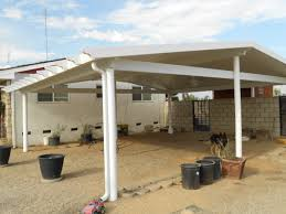 furniture contemporary white carport canopy design with pooted