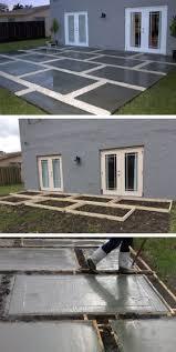 Concrete Patio Pavers Create A Stylish Patio With Large Poured Concrete Pavers Poured